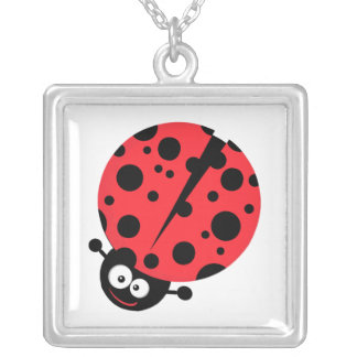 cute little goofy ladybug with lots of spots pendant