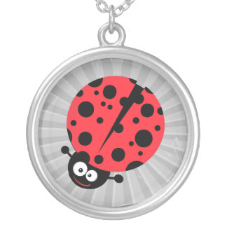 cute little goofy ladybug with lots of spots custom necklace