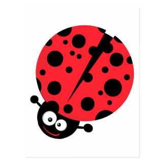 cute little goofy ladybug with lots of spots postcard