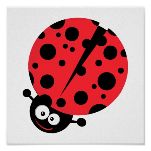 cute little goofy ladybug with lots of spots poster
