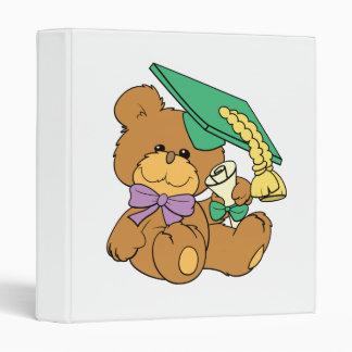 Cute little graduate graduation teddy bear design binder