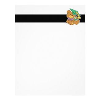Cute little graduate graduation teddy bear design letterhead