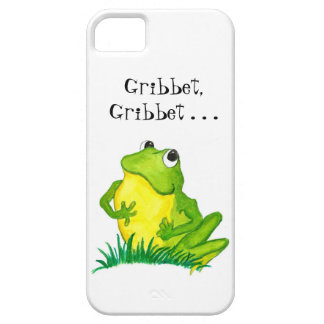 Cute Little Green Frog on White iPhone SE/5/5s Case