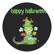Cute little Green Halloween Dragon sticker
