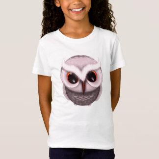 Cute Little Grumpy Owl in Light Pink T-Shirt