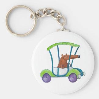 Cute Little Guy in Cute Car Keychain