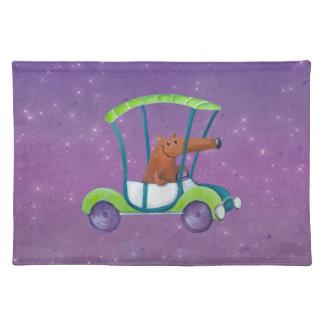 Cute Little Guy in Cute Car Placemat