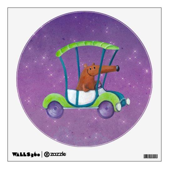 Cute Little Guy in Cute Car Wall Sticker