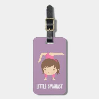 Cute Little Gymnast Girl Gymnastics Pose Bag Tag