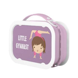 Cute Little Gymnast Girl Gymnastics Pose Lunch Box