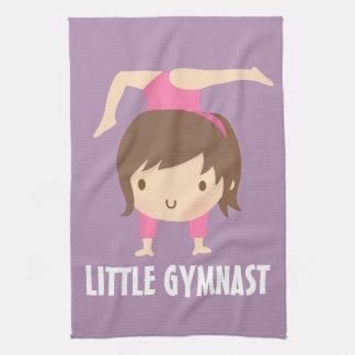 Cute Little Gymnast Girl Gymnastics Pose Towel