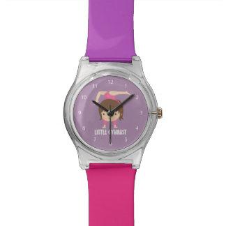 Cute Little Gymnast Girl Gymnastics Pose Wristwatches