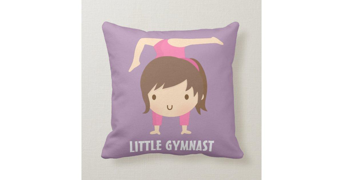 Cute Pillows For Your Room : Cute Little Gymnast Girl Gymnastics Room Decor Throw Pillow Zazzle