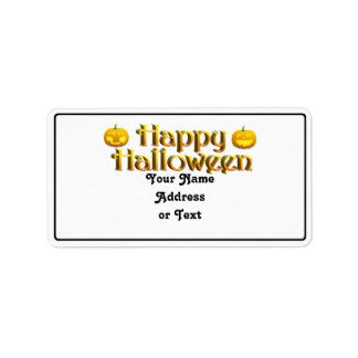 Cute Little Halloween Jack-o-Lanterns Address Label