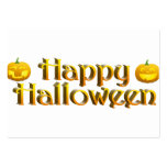 Cute Little Halloween Jack-o-Lanterns Large Business Cards (Pack Of 100)