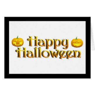 Cute Little Halloween Jack-o-Lanterns Greeting Card