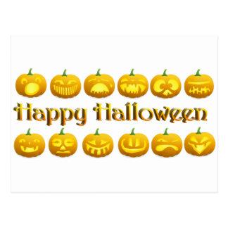 Cute Little Halloween Jack-o-Lanterns Postcard