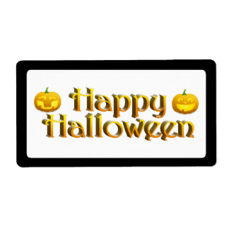 Cute Little Halloween Jack-o-Lanterns Shipping Label