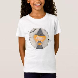 Cute Little Halloween Witch and Bat T-Shirt