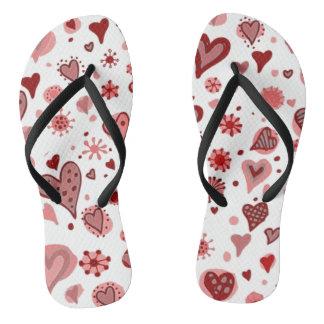 Cute Little Hearts Flip Flop Flip Flops