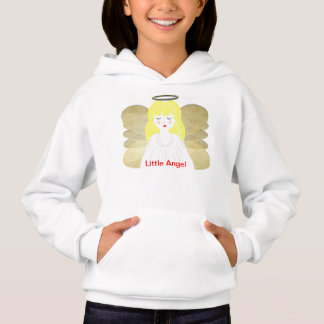 Cute Little Heavenly Angel Praying Picture Hoodie