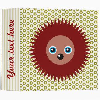 Cute little hedgehog 3 ring binder