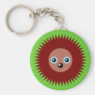 Cute little hedgehog basic round button keychain