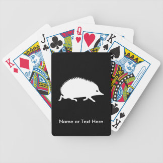 Cute Little Hedgehog Bicycle Playing Cards