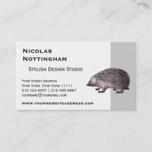 Cute hedgehog business cards templates zazzle cute little hedgehog business card reheart Images