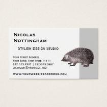 Cute Little Hedgehog Business Card