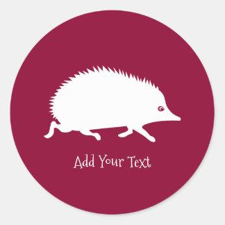 Cute Little Hedgehog Classic Round Sticker