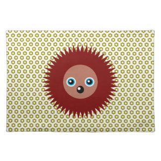 Cute little hedgehog cloth placemat