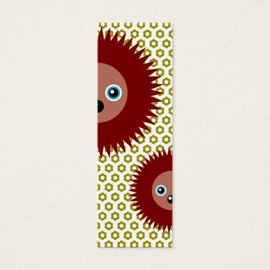Cute little hedgehog mini business card