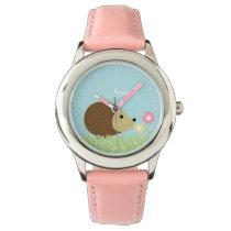 Cute Little Hedgehog Personalized Wrist Watch