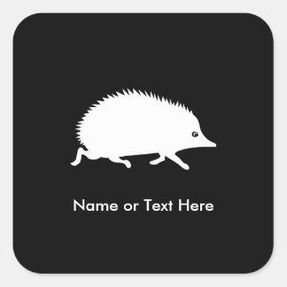 Cute Little Hedgehog Square Sticker