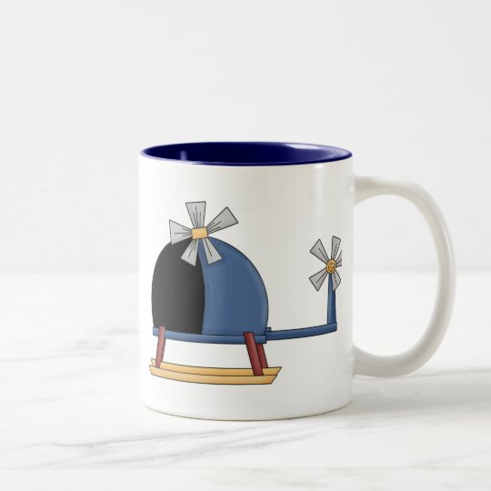 Cute Little Helicopter Two-Tone Coffee Mug
