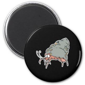 cute little hermit crab 2 inch round magnet