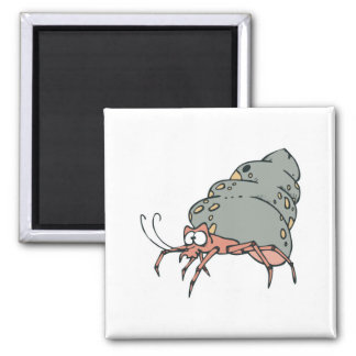 cute little hermit crab 2 inch square magnet