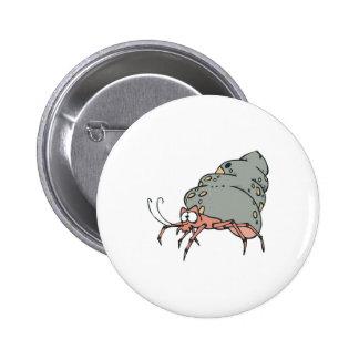 cute little hermit crab button