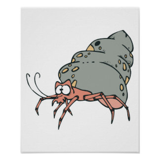 cute little hermit crab poster