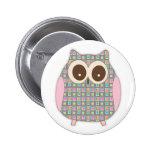 Cute Little Hoot Owl 2 Inch Round Button