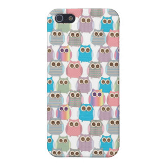 Cute Little Hoot Owls Assorted Colors Case For iPhone SE/5/5s