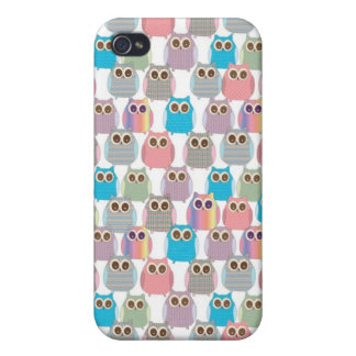Cute Little Hoot Owls Assorted Colors iPhone 4/4S Cases