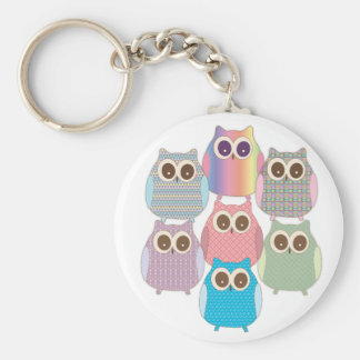 Cute Little Hoot Owls Assorted Colors Keychain