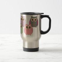 Cute Little Hoot Owls Assorted Colors Travel Mug