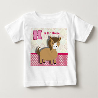 Cute Little Horse Kids Alphabet Picture Shirt