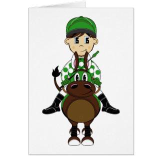 Cute Little Jockey Card
