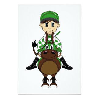 Cute Little Jockey RSVP Card