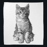 """Cute Little Kitten Bandana<br><div class=""""desc"""">Cute little kitten design.</div>"""