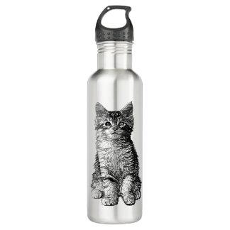 Cute Little Kitten Water Bottle